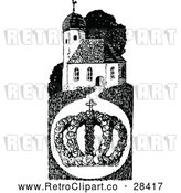 May 4th, 2018: Vector Clip Art of Retro Crown and Church by Prawny Vintage
