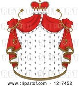 Vector Clip Art of Retro Crown and Royal Mantle with Red Drapes 3 by Vector Tradition SM
