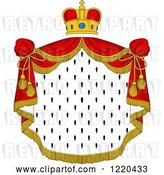 Vector Clip Art of Retro Crown and Royal Mantle with Red Drapes 5 by Vector Tradition SM