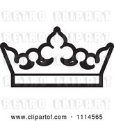 Vector Clip Art of Retro Crown by Lal Perera