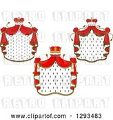 Vector Clip Art of Retro Crowns and Royal Mantles with Red Drapes 2 by Vector Tradition SM