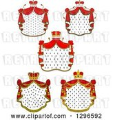Vector Clip Art of Retro Crowns and Royal Mantles with Red Drapes 3 by Vector Tradition SM