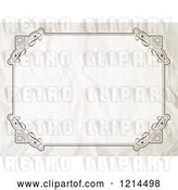 Vector Clip Art of Retro Crumpled Certificate Frame by KJ Pargeter