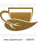 Vector Clip Art of Retro Cup of Brown Tea or Coffee 2 by Vector Tradition SM
