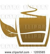 Vector Clip Art of Retro Cup of Brown Tea or Coffee 3 by Vector Tradition SM