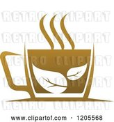 Vector Clip Art of Retro Cup of Brown Tea or Coffee 4 by Vector Tradition SM