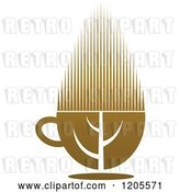Vector Clip Art of Retro Cup of Brown Tea or Coffee by Vector Tradition SM