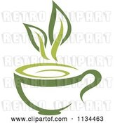 Vector Clip Art of Retro Cup of Green Tea or Coffee 1 by Vector Tradition SM