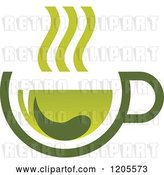 Vector Clip Art of Retro Cup of Green Tea or Coffee 11 by Vector Tradition SM