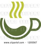 Vector Clip Art of Retro Cup of Green Tea or Coffee 14 by Vector Tradition SM