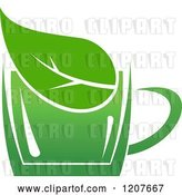 Vector Clip Art of Retro Cup of Green Tea or Coffee 21 by Vector Tradition SM