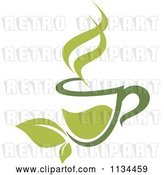 Vector Clip Art of Retro Cup of Green Tea or Coffee 4 by Vector Tradition SM
