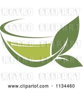 Vector Clip Art of Retro Cup of Green Tea or Coffee 5 by Vector Tradition SM