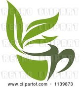 Vector Clip Art of Retro Cup of Green Tea or Coffee 7 by Vector Tradition SM