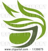 Vector Clip Art of Retro Cup of Green Tea or Coffee 9 by Vector Tradition SM