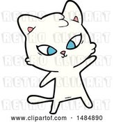 Vector Clip Art of Retro Cute Cartoon Cat by Lineartestpilot