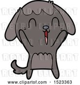 Vector Clip Art of Retro Cute Cartoon Dog Crying by Lineartestpilot