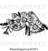 Vector Clip Art of Retro Daisy Flowers by Prawny Vintage