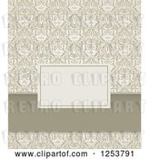 Vector Clip Art of Retro Damask Invitation Design by Vectorace