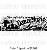 Vector Clip Art of Retro Dance Music Banner by BestVector