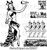 Vector Clip Art of Retro Dancers by BestVector