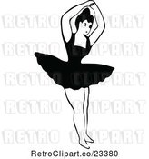 Vector Clip Art of Retro Dancing Ballerina 11 by Prawny Vintage