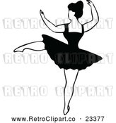 Vector Clip Art of Retro Dancing Ballerina 2 by Prawny Vintage