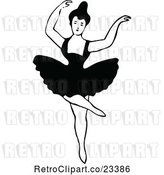 Vector Clip Art of Retro Dancing Ballerina 4 by Prawny Vintage