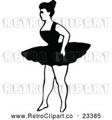 Vector Clip Art of Retro Dancing Ballerina 6 by Prawny Vintage