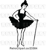 Vector Clip Art of Retro Dancing Ballerina 7 by Prawny Vintage