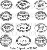 Vector Clip Art of Retro Date and Location Postmarks by BestVector