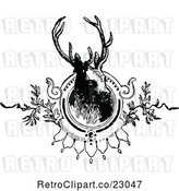 Vector Clip Art of Retro Deer Stag Mounted by Prawny Vintage