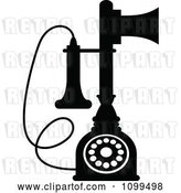 Vector Clip Art of Retro Desk Candlestick Telephone by Vector Tradition SM