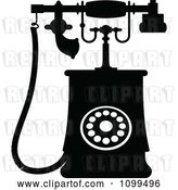 Vector Clip Art of Retro Desk Telephone 2 by Vector Tradition SM