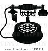 Vector Clip Art of Retro Desk Telephone 8 by Vector Tradition SM