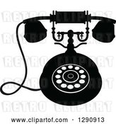 Vector Clip Art of Retro Desk Telephone 9 by Vector Tradition SM
