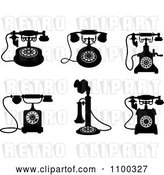 Vector Clip Art of Retro Desk Telephones by Vector Tradition SM