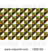 Vector Clip Art of Retro Diamond Brown Green and Orange Texture Background by Michaeltravers
