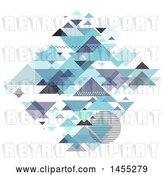 Vector Clip Art of Retro Diamond Formed of Geometric Pyramids on White by KJ Pargeter