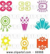 Vector Clip Art of Retro Digital Collage of Colorful Icons by Prawny