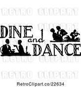 Vector Clip Art of Retro Dine and Dance Sign by BestVector