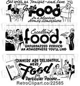 Vector Clip Art of Retro Dining Food Borders by BestVector
