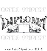 Vector Clip Art of Retro Diploma Frame by BestVector