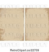 Vector Clip Art of Retro Distressed Brown and Tan Backgrounds by BestVector