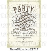 Vector Clip Art of Retro Distressed Party Poster with Sample Text by BestVector