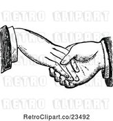 Vector Clip Art of Retro Dodgy Handshake 1 by Prawny Vintage