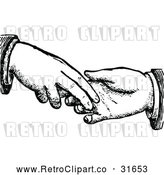 Vector Clip Art of Retro Dodgy Handshake 2 by Prawny Vintage