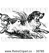 March 21st, 2018: Vector Clip Art of Retro Dog Runnin Gin Reeds by Prawny Vintage