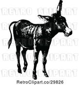 Vector Clip Art of Retro Donkey 2 by Prawny Vintage