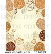 Vector Clip Art of Retro Doodled Brown and Tan Background with Text Space by Vector Tradition SM